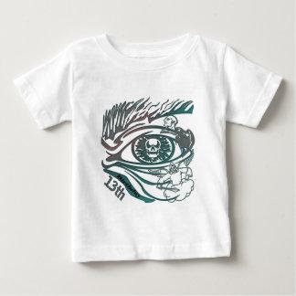 第13誕生日プレゼントの戦士のスカル ベビーTシャツ