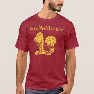 第13誕生日プレゼント13の名前をカスタムする Tシャツ