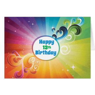 第13誕生日宗教カード虹の恵み グリーティングカード