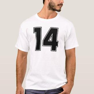 第14前部および裏側のプリント Tシャツ