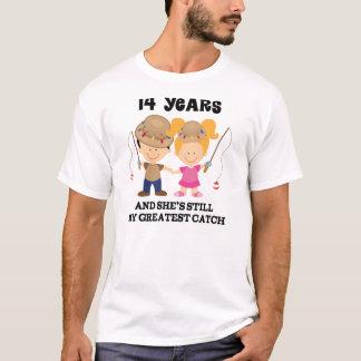 第14彼のための結婚記念日のギフト Tシャツ