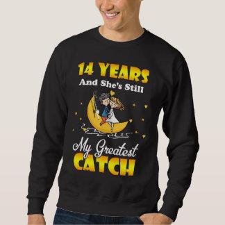第14結婚記念日のワイシャツ。 夫のためのギフト スウェットシャツ