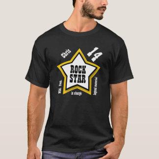 第14誕生日か年のロックスターE01の黄色 Tシャツ