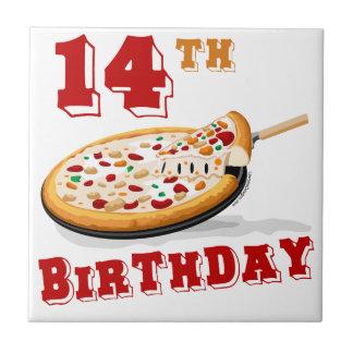 第14誕生日ピザパーティー タイル