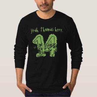 第14誕生日プレゼント14の名前をカスタムする Tシャツ