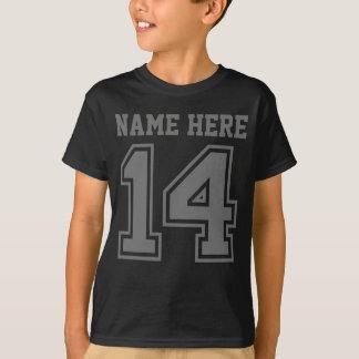 第14誕生日(カスタマイズ可能な子供の名前) Tシャツ