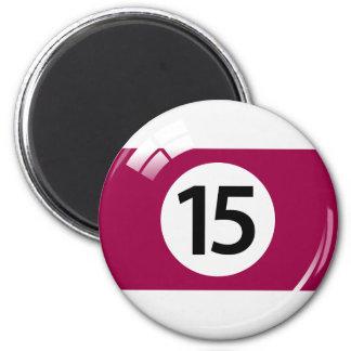 第15ビリヤードボールの冷蔵庫用マグネット マグネット