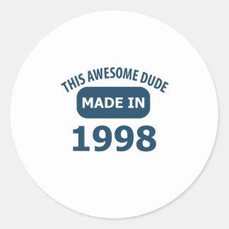 第15年の誕生日のデザイン ラウンドシール