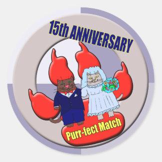 第15結婚記念日のギフト ラウンドシール