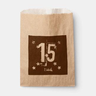 第15 10代のな誕生日のグランジな手紙の星C15Z フェイバーバッグ