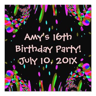 第16または年齢の誕生日のパーティの招待状 カード