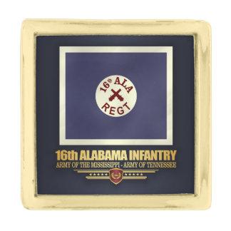 第16アラバマの歩兵(f10) ゴールド ラペルピン