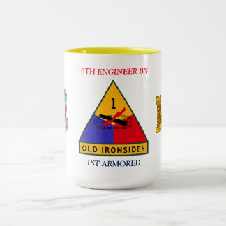 第16エンジニアの大隊の第1装甲マグ ツートーンマグカップ
