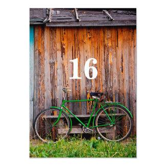 第16サイクリストの誕生祝いの招待状 カード