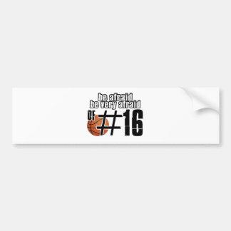 第16バスケットボールのデザイン バンパーステッカー