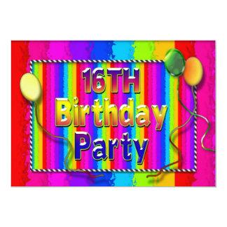 第16抽象的な誕生会招待状色 カード