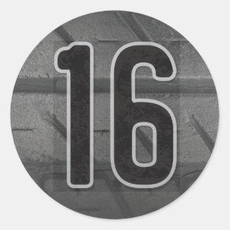 第16男の子の誕生日のステッカー ラウンドシール