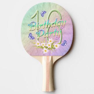 第16誕生会の虹および蝶 卓球ラケット