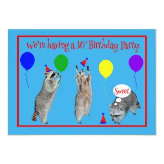 第16誕生会への招待状 カード