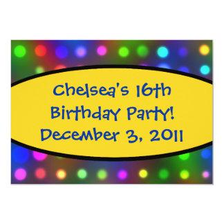 第16誕生日のパーティの招待状 カード