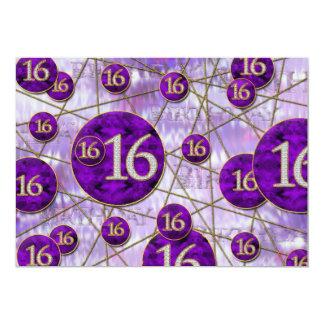 第16誕生日のパーティの招待状-第16' s カード