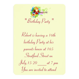 第16誕生日の写真カード招待状 カード