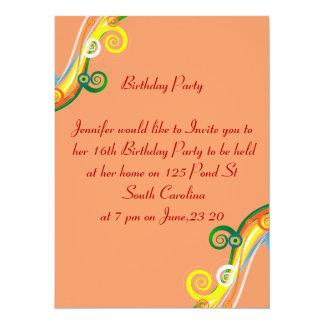 第16誕生日の写真カード数々のな色スクロール カード