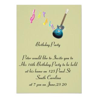 第16誕生日の写真カード音楽石 カード