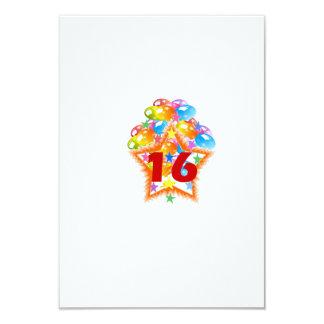 第16誕生日の招待 カード