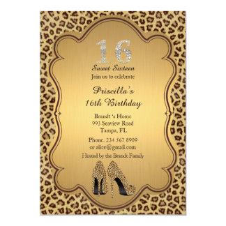 第16誕生日の招待、数ダイヤモンド、チータ カード