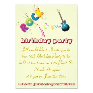 第16誕生日の石の招待カード カード