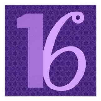 第16誕生日の膨大な数紫色W953 カード
