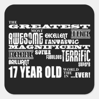第17誕生会のすばらしい17歳児 スクエアシール