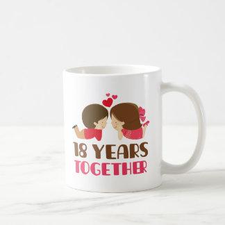 第18彼女のための記念日のギフト コーヒーマグカップ