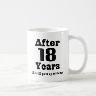 第18記念日(おもしろいな) コーヒーマグカップ