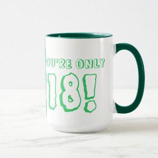 第18誕生日のマグ(緑) マグカップ