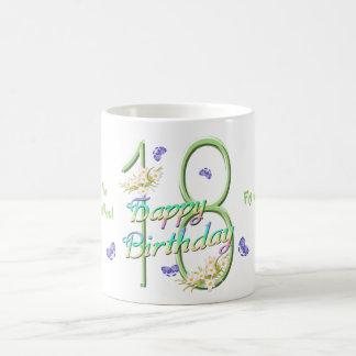 第18誕生日の蝶ダンスのマグ コーヒーマグカップ