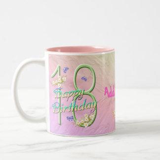 第18誕生日の蝶庭のマグ ツートーンマグカップ
