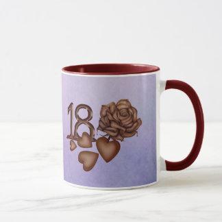 第18誕生日チョコレート数、ハートは上がり、 マグカップ