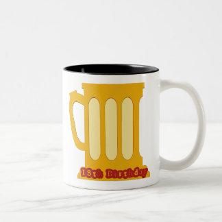 第18誕生日プレゼントのマグ ツートーンマグカップ