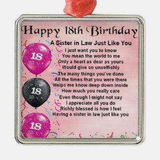 第18誕生日-義理の姉妹の詩 メタルオーナメント