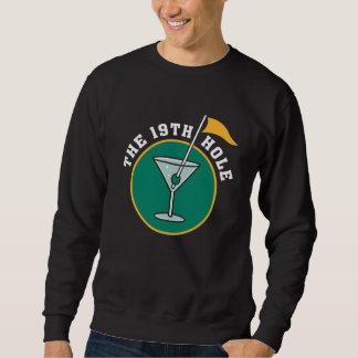 第19穴の飲むTシャツをゴルフをして下さい スウェットシャツ