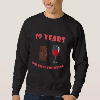 第19記念日のためのかわいいTシャツ スウェットシャツ