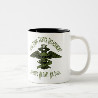 第19隊の戦闘機のコップの緑 ツートーンマグカップ