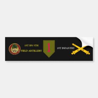 第1 BN.第5分野の凝りすぎの第1歩兵のバンパーステッカー バンパーステッカー