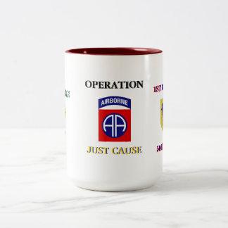 第1 Bn. (Abn)の504thちょうど原因の戦闘のジャンプのマグ ツートーンマグカップ