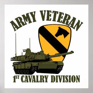 第1 Cavの軍隊の獣医- M1タンク ポスター