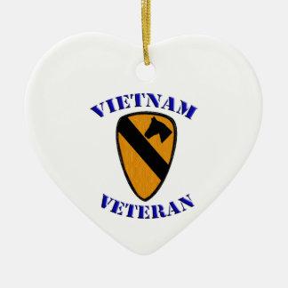 第1 Cavベトナムの退役軍人 セラミックオーナメント