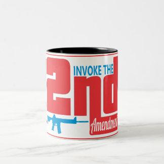 第2を実施して下さい、11のozのツートーンマグを黒くして下さい ツートーンマグカップ