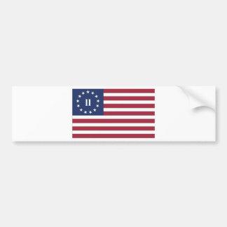 第2アメリカ革命の旗 バンパーステッカー